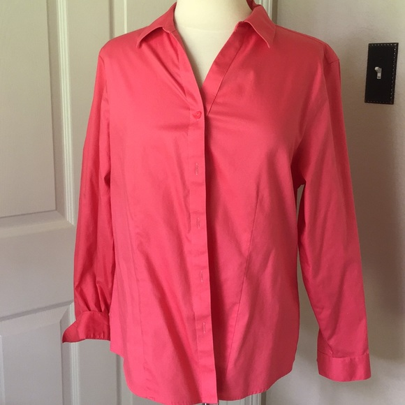 9284e3515 Chico's Tops | Chicos Wrinkle Resistant Button Down Blouse Sz 2 ...